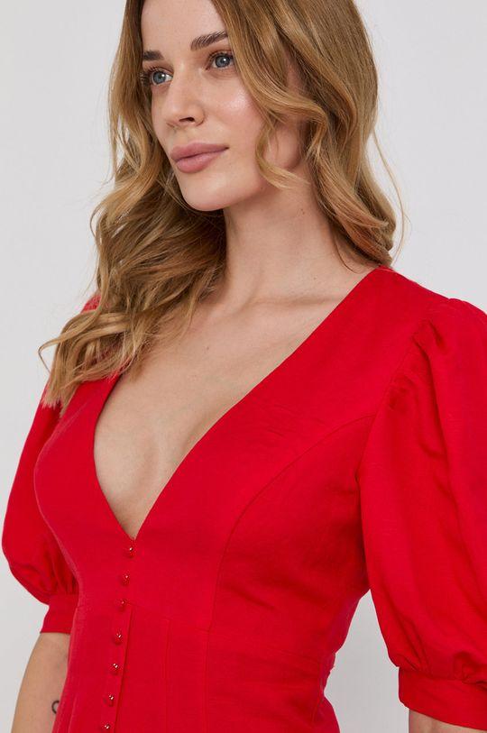 červená Bardot - Šaty
