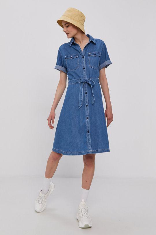 Tommy Jeans - Sukienka jasny niebieski