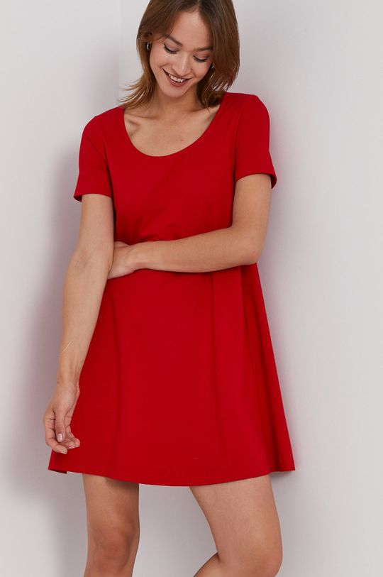 červená United Colors of Benetton - Šaty 3MT1V16E6.015 Dámský