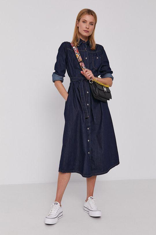 námořnická modř United Colors of Benetton - Džínové šaty Dámský