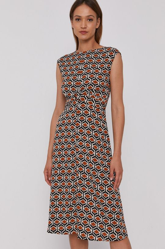 brązowy Sisley - Sukienka Damski