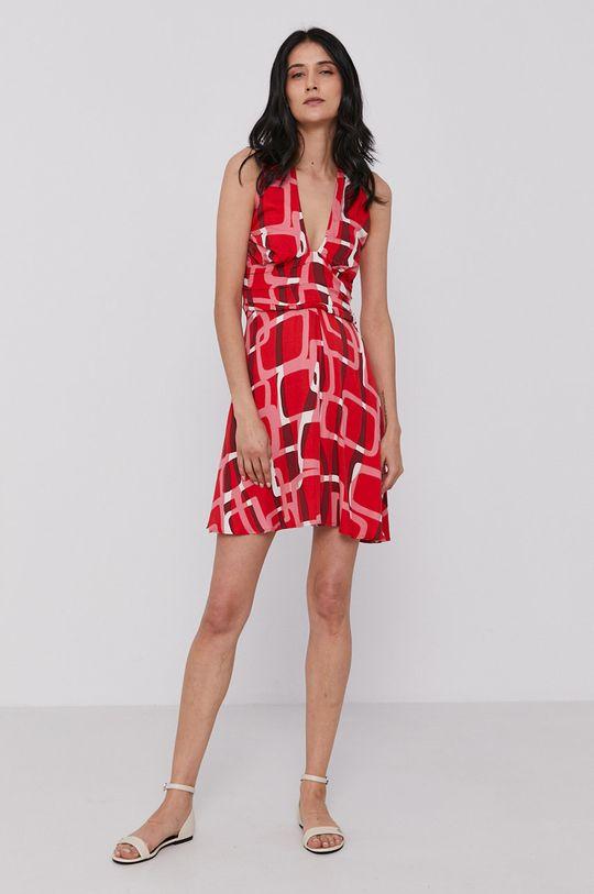 Sisley - Sukienka czerwony