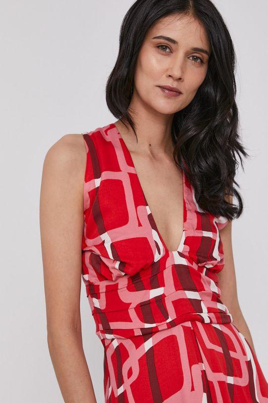 czerwony Sisley - Sukienka