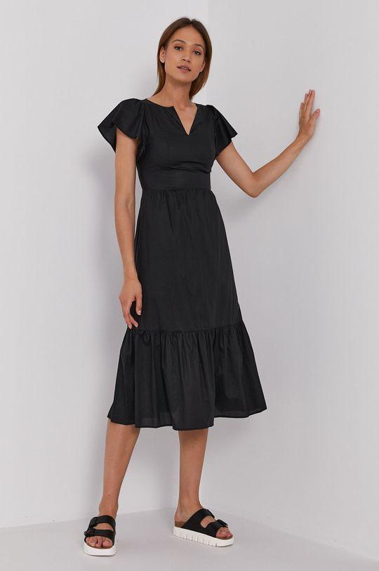 czarny Sisley - Sukienka Damski