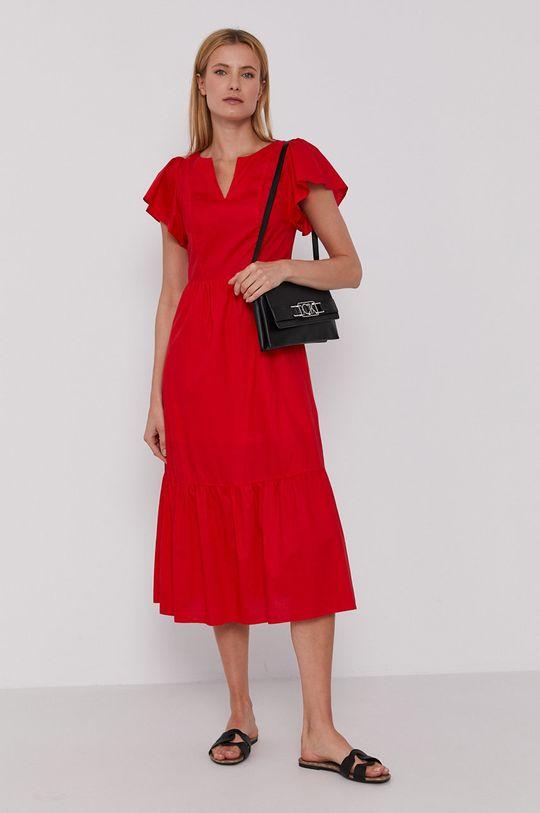 červená Sisley - Šaty Dámský