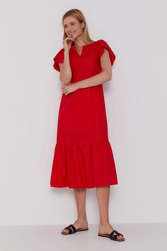 červená Sisley - Šaty