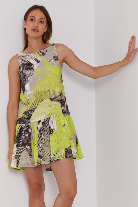 żółto - zielony Sisley - Sukienka Damski