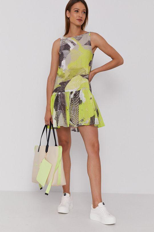 Sisley - Sukienka żółto - zielony