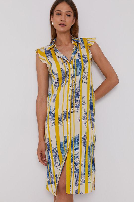 žlutá Sisley - Šaty Dámský