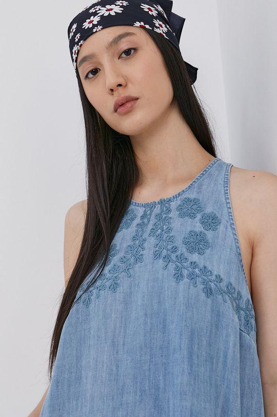 světle modrá Superdry - Šaty