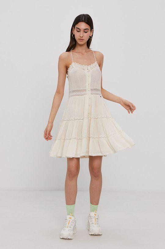 Superdry - Sukienka kremowy