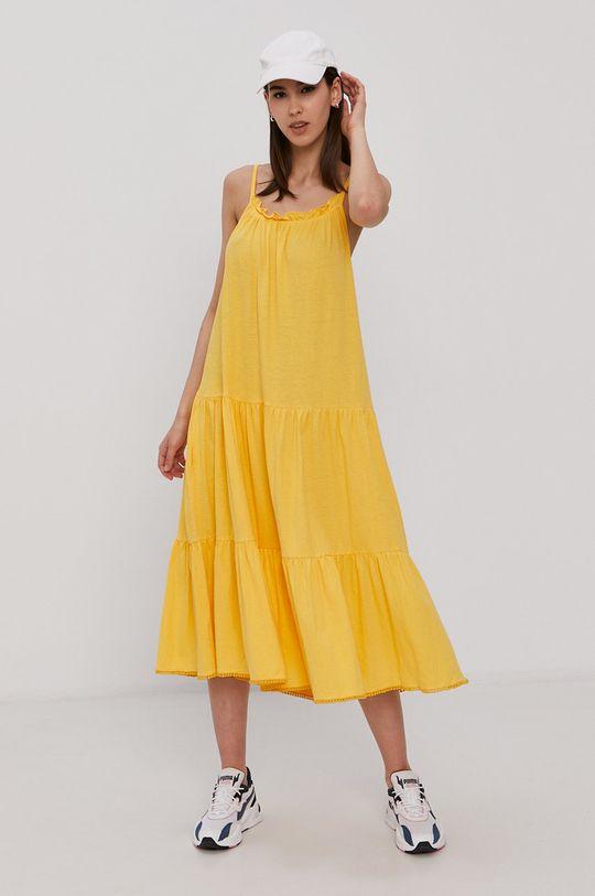 żółty Superdry - Sukienka Damski