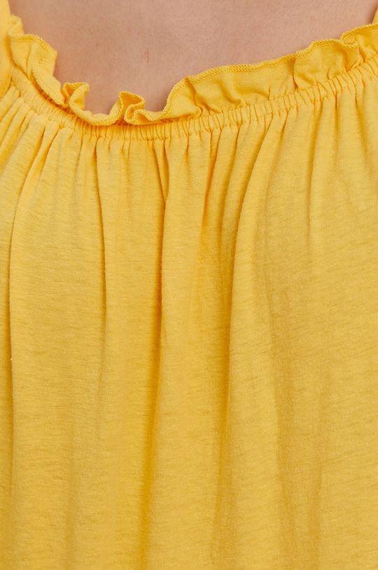 żółty Superdry - Sukienka