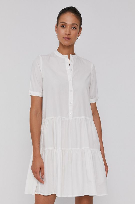 bílá Vero Moda - Bavlněné šaty Dámský