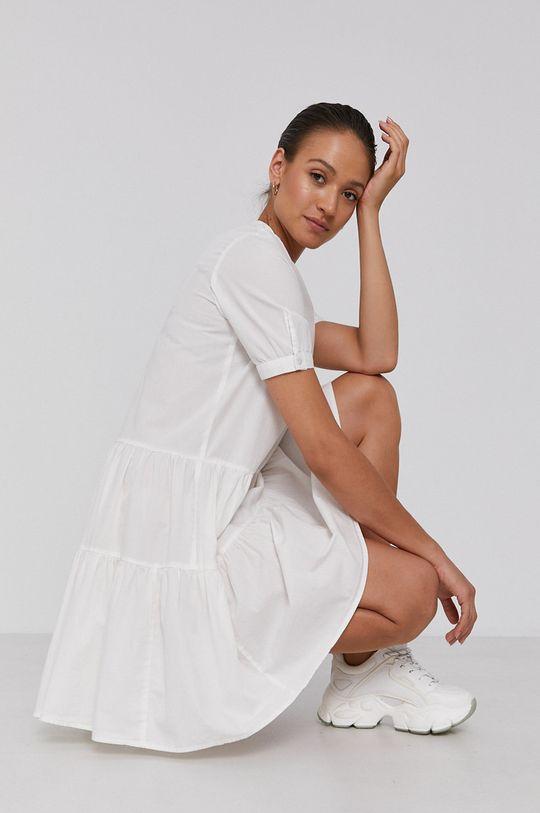 Vero Moda - Bavlněné šaty bílá