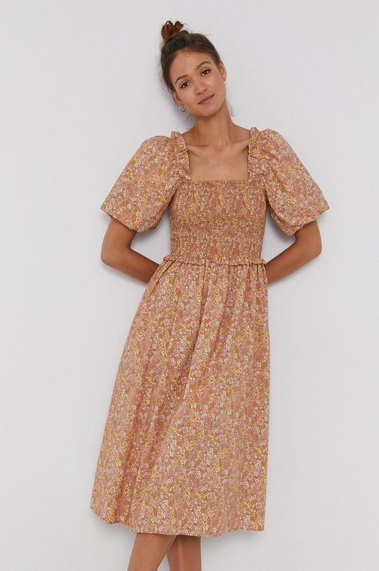 kawowy Y.A.S - Sukienka bawełniana Damski