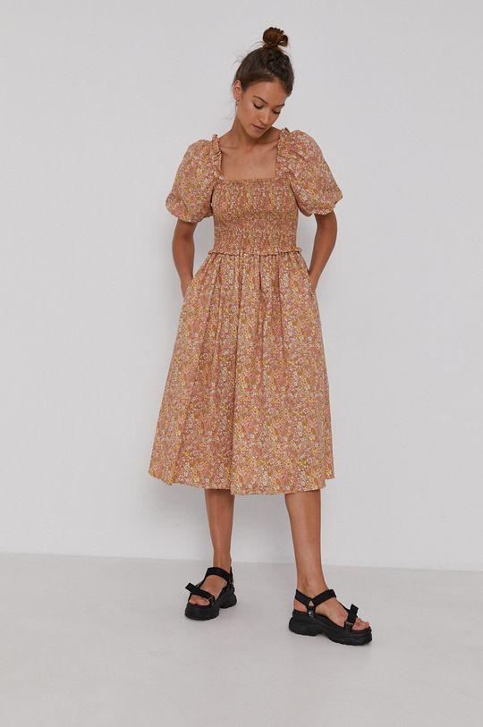 Y.A.S - Sukienka bawełniana kawowy
