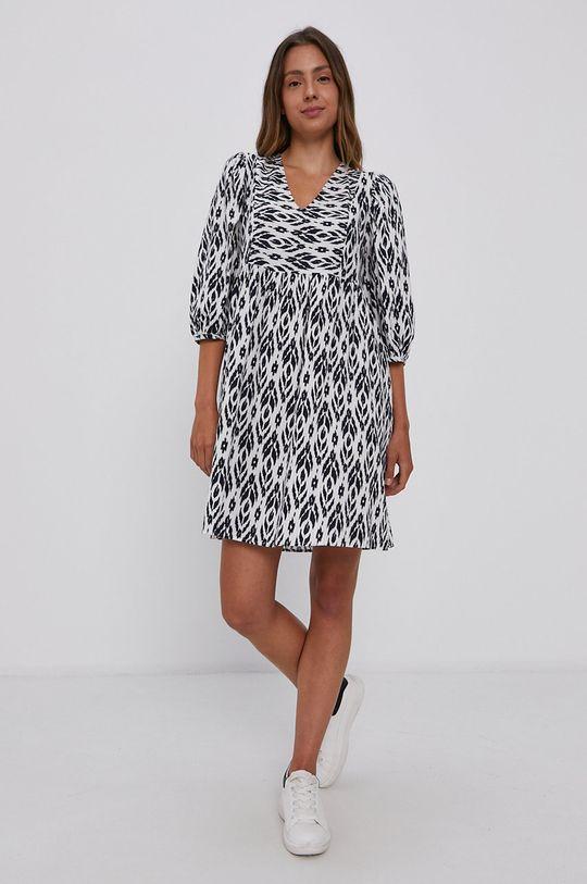 Vero Moda - Sukienka bawełniana biały