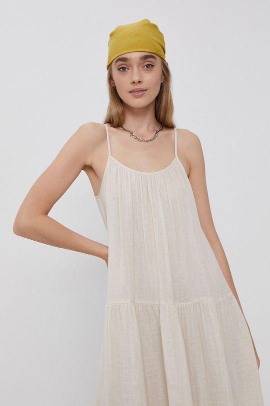 kremowy Vero Moda - Sukienka bawełniana