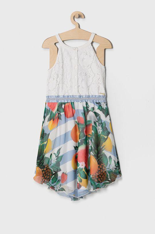 Guess - Sukienka dziecięca 116-175 cm Materiał 1: 79 % Bawełna, 21 % Nylon, Materiał 2: 100 % Poliester, Materiał 3: 95 % Bawełna, 5 % Elastan