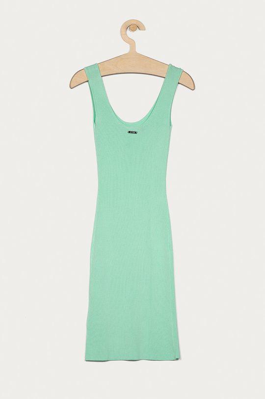 Guess - Sukienka blady turkusowy