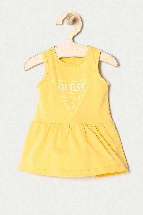 żółty Guess - Sukienka dziecięca 62-96 cm Dziewczęcy