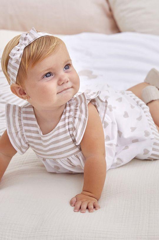 piaskowy Mayoral Newborn - Sukienka dziecięca 60-86 cm Dziewczęcy