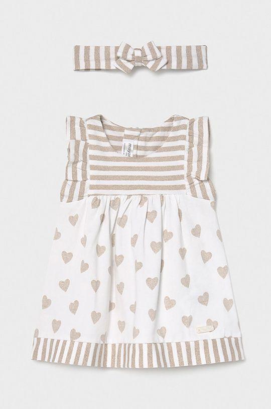Mayoral Newborn - Sukienka dziecięca 60-86 cm piaskowy