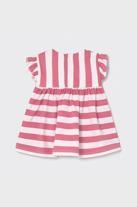 Mayoral Newborn - Sukienka dziecięca ostry różowy