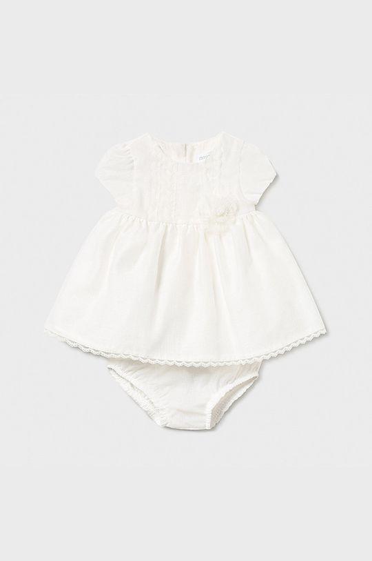 kremowy Mayoral Newborn - Sukienka dziecięca 60-86 cm Dziewczęcy