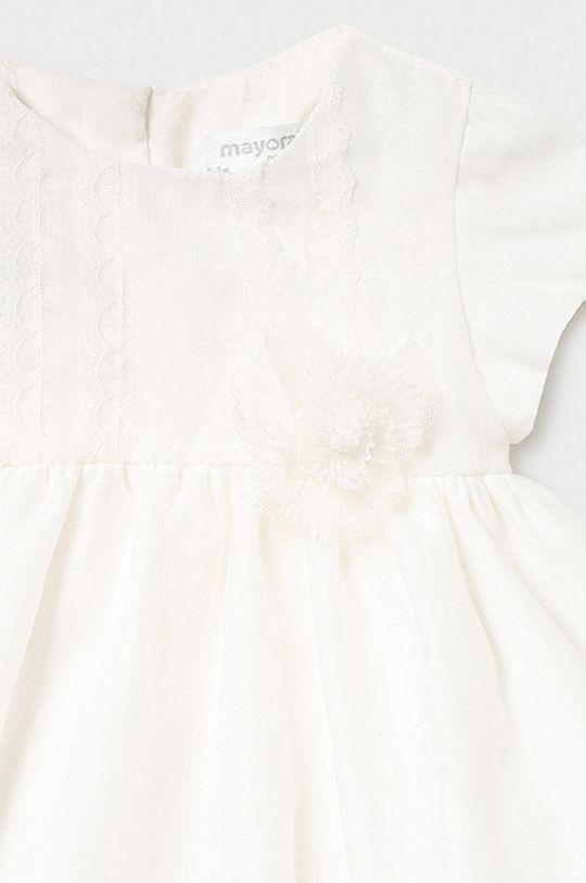Mayoral Newborn - Sukienka dziecięca 60-86 cm kremowy
