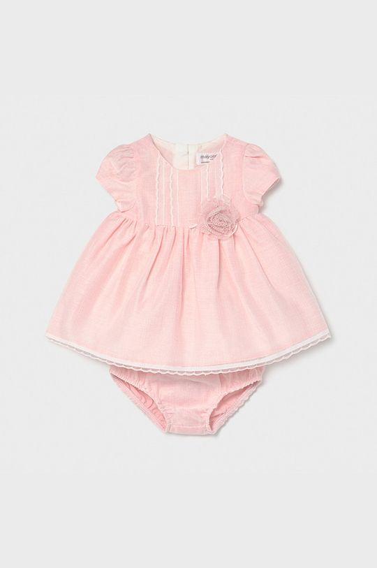 pastelowy różowy Mayoral Newborn - Sukienka dziecięca 60-86 cm Dziewczęcy
