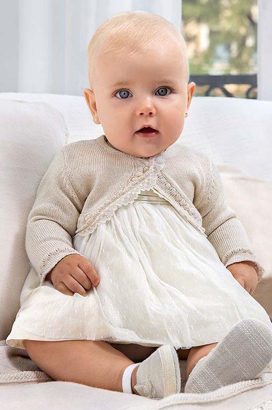 piaskowy Mayoral Newborn - Sukienka dziecięca Dziewczęcy