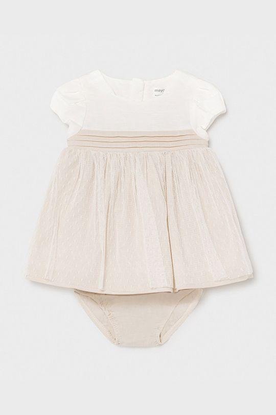 Mayoral Newborn - Sukienka dziecięca piaskowy