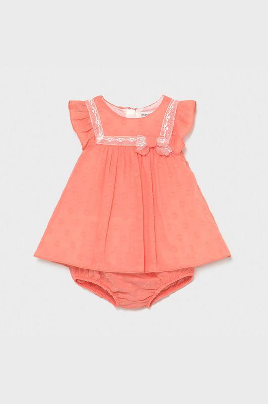 koralová Mayoral Newborn - Dievčenské šaty Dievčenský
