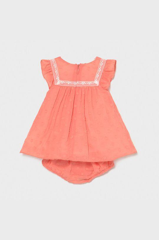 Mayoral Newborn - Dievčenské šaty koralová