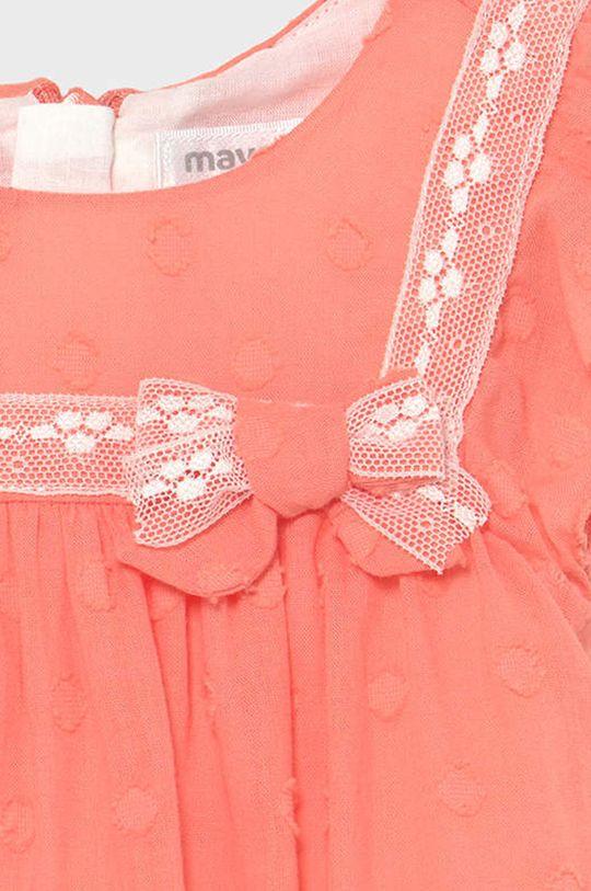 Mayoral Newborn - Dievčenské šaty  1. látka: 97% Bavlna, 1% Elastan, 2% Polyamid 2. látka: 100% Bavlna
