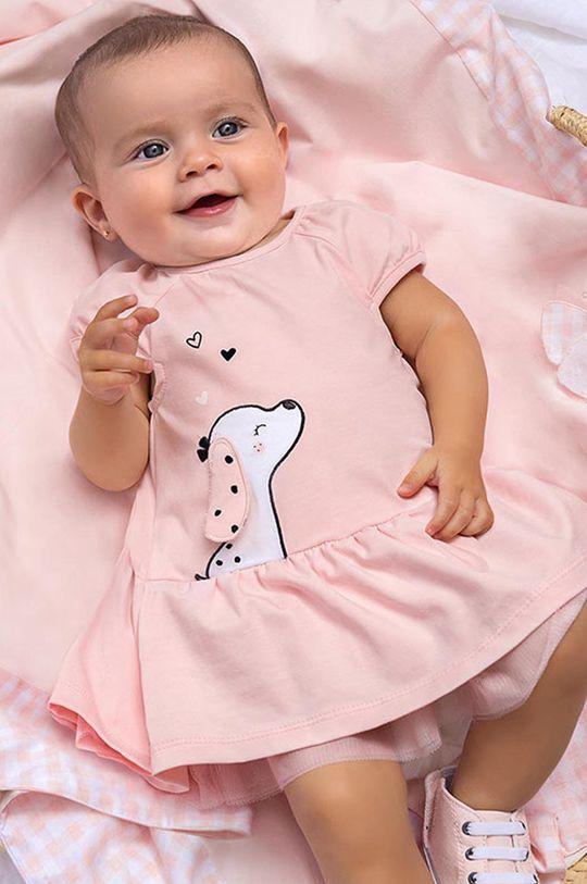 pastelowy różowy Mayoral Newborn - Sukienka dziecięca Dziewczęcy