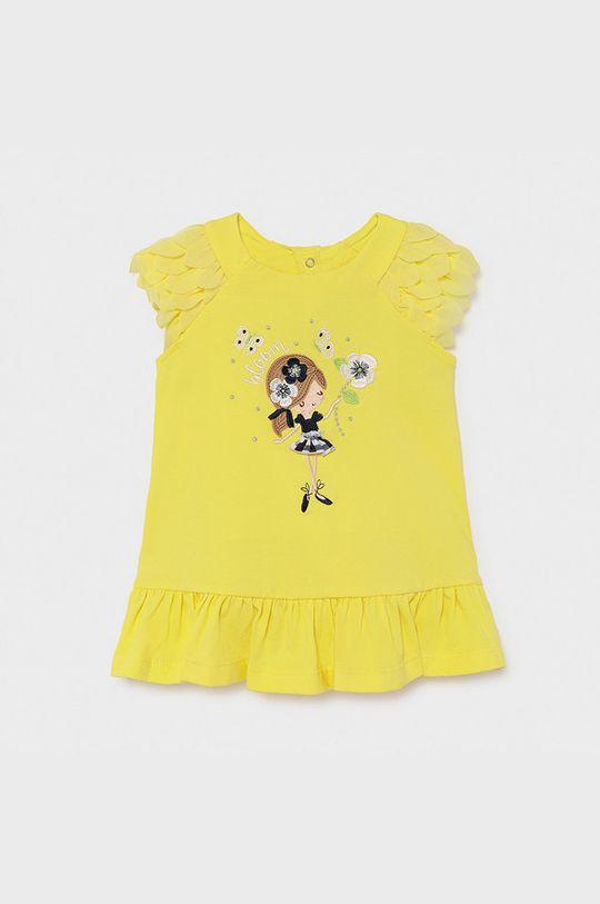 żółty Mayoral - Sukienka dziecięca Dziewczęcy