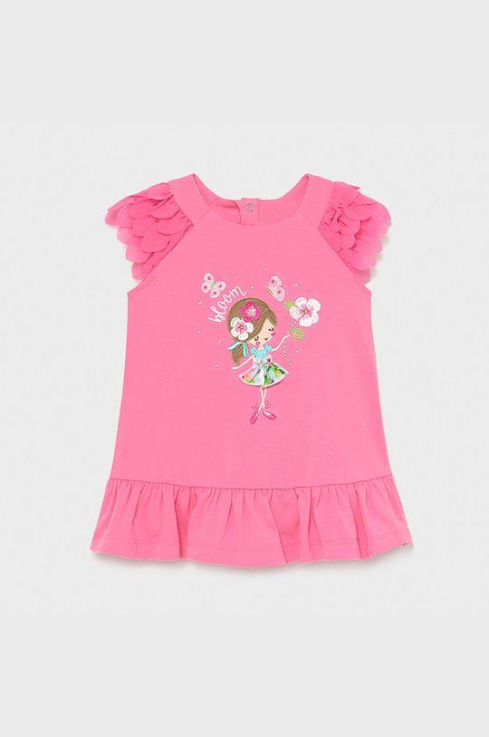 różowy Mayoral - Sukienka dziecięca Dziewczęcy