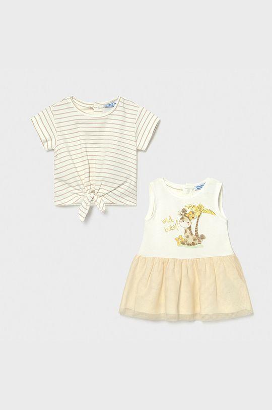 telová Mayoral - Dievčenské šaty 68-98 cm Dievčenský