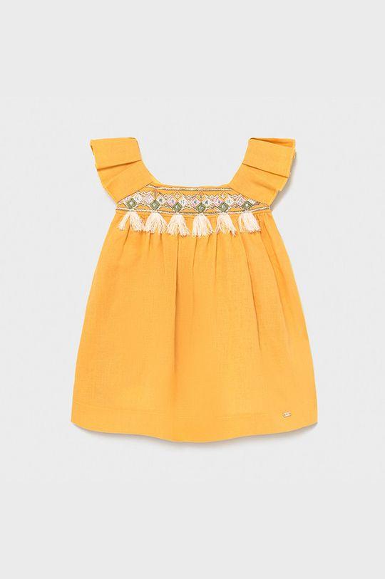 jantárová Mayoral - Dievčenské šaty Dievčenský