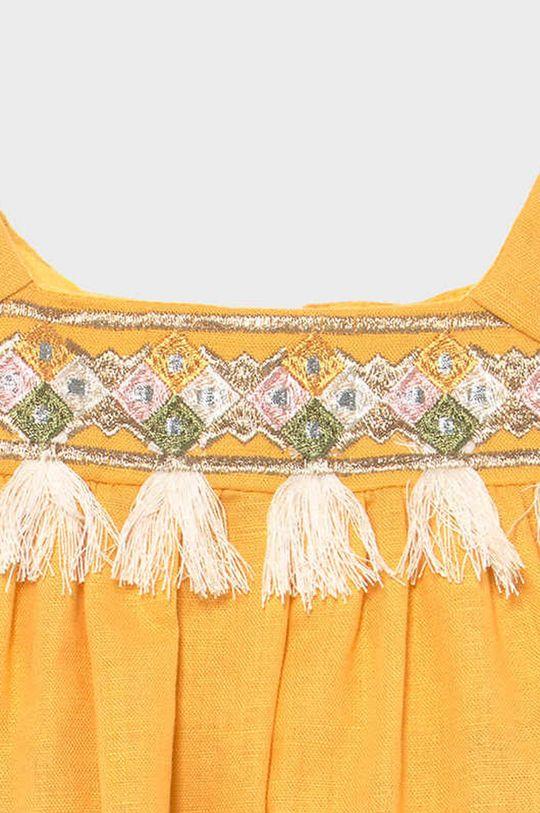 Mayoral - Dievčenské šaty  Podšívka: 100% Bavlna Základná látka: 62% Bavlna, 38% Ľan