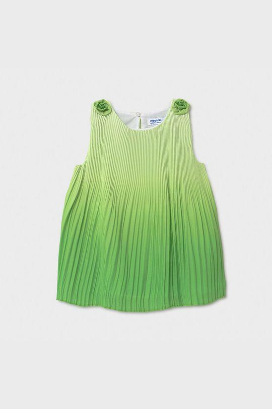 bledozelená Mayoral - Dievčenské šaty Dievčenský