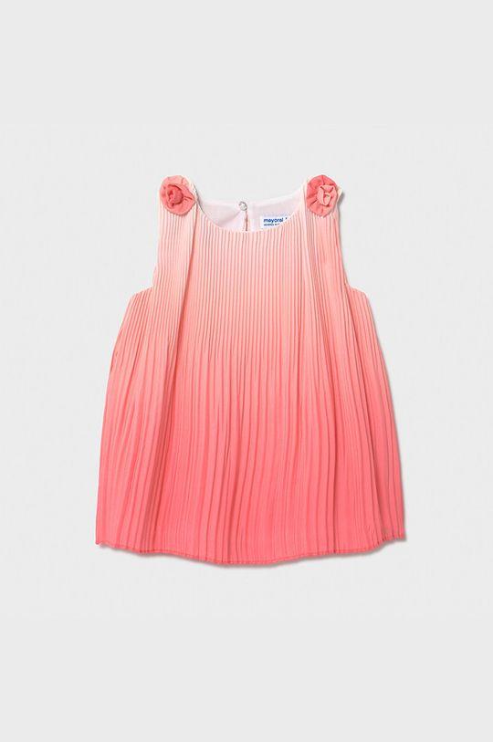 ostry różowy Mayoral - Sukienka dziecięca Dziewczęcy