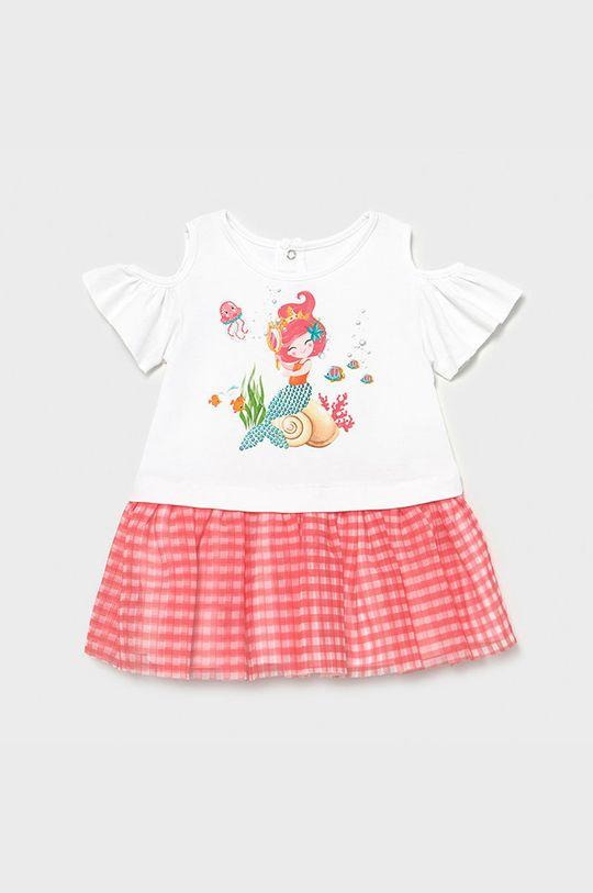 sýto ružová Mayoral - Dievčenské šaty Dievčenský