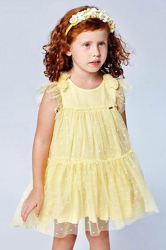 svetložltá Mayoral - Dievčenské šaty Dievčenský