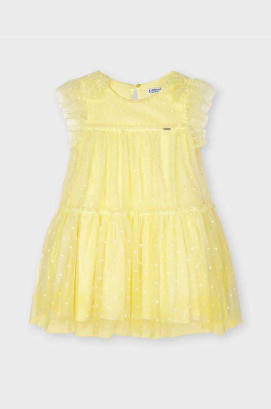 Mayoral - Dievčenské šaty svetložltá