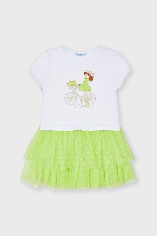 galben – verde Mayoral - Rochie fete De fete
