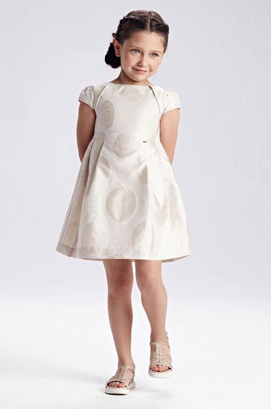 béžová Mayoral - Dievčenské šaty Dievčenský